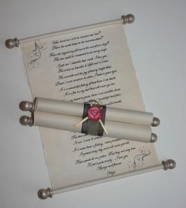 Handwritten or calligraphy scroll