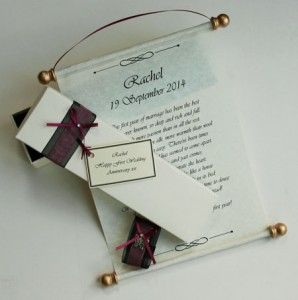 Hanging gift scroll