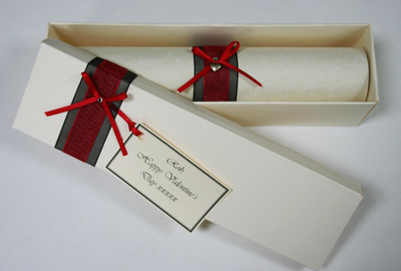 Valentines day love letter scroll