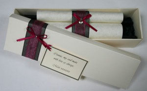 Personalised scroll - love letter