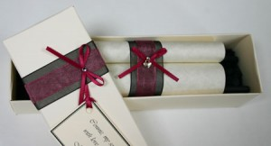 Personalised scroll for love letter