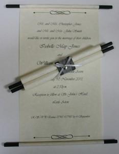 Wedding-scroll-invitations