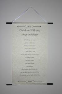 Love letter scroll - poem scroll