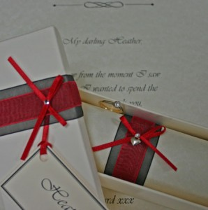 Valentines day love letter/proposal scroll