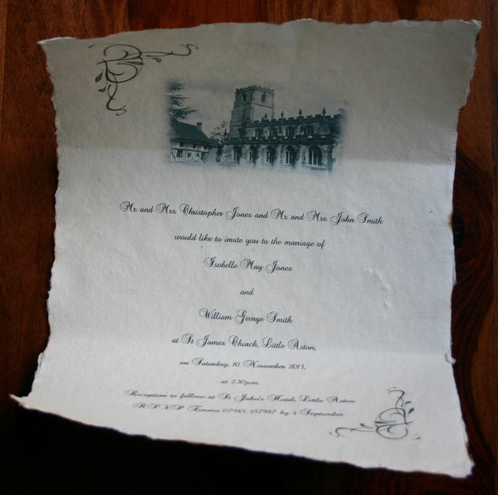 Wedding Invitation Wording English: Wedding Invitation Scrolls For Weddings And Other Events