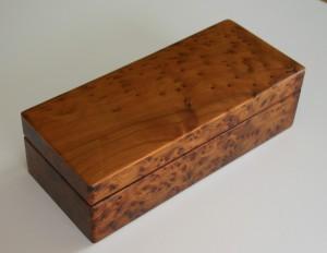 Wooden scroll presentation box