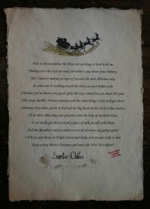 Santa scroll