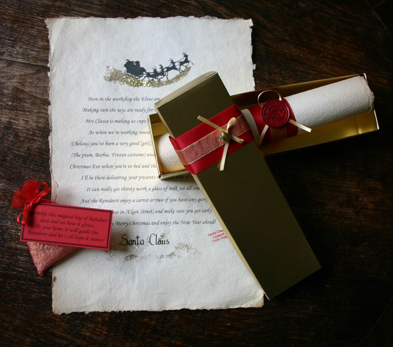 Santa scrolls for Scroll letter from santa