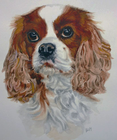 Cavalier King Charles painting