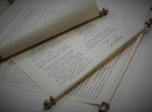 Wedding speech scroll