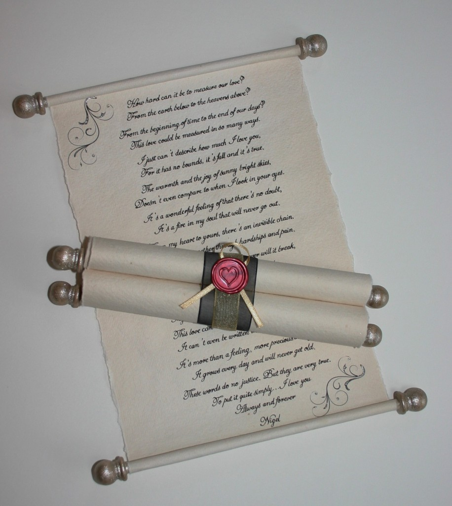 Handwritten or calligraphy scroll