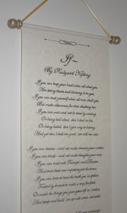 Personalised hand written scroll