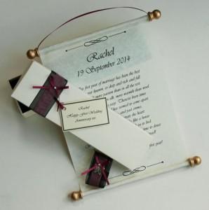 Hanging gift scroll