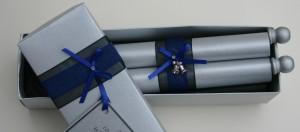 Wedding Gift scroll in a silver box