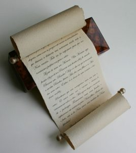 Wedding speech scroll