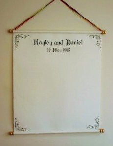 Wedding guest book alternative scroll