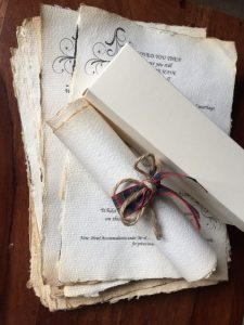 wedding scroll invitations aged and natural