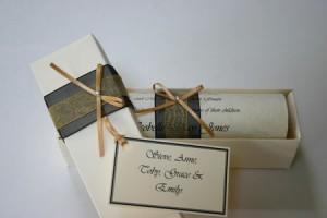 Wedding invitation scroll