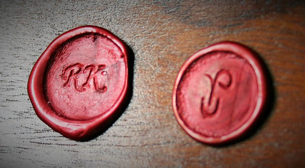 Custom wax seals with initials