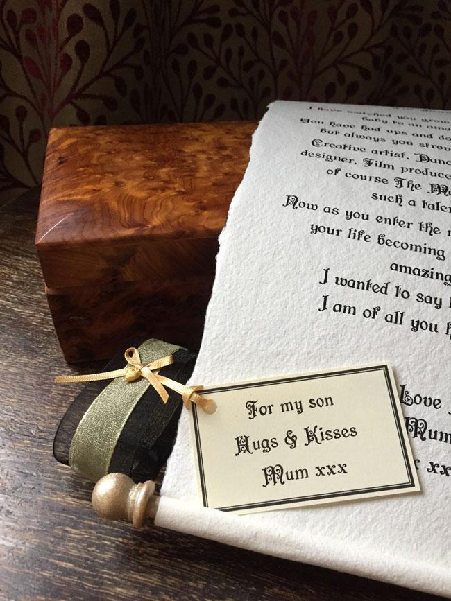 Wedding morning scroll letter