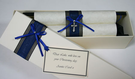 Personalised gift scroll for Baptism