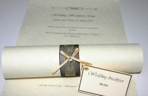 Wedding breakfast scroll