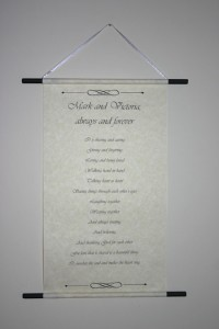 Love letter scroll - poem scroll