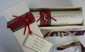 Christmas scroll gift