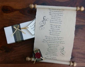 Medieval style love letter