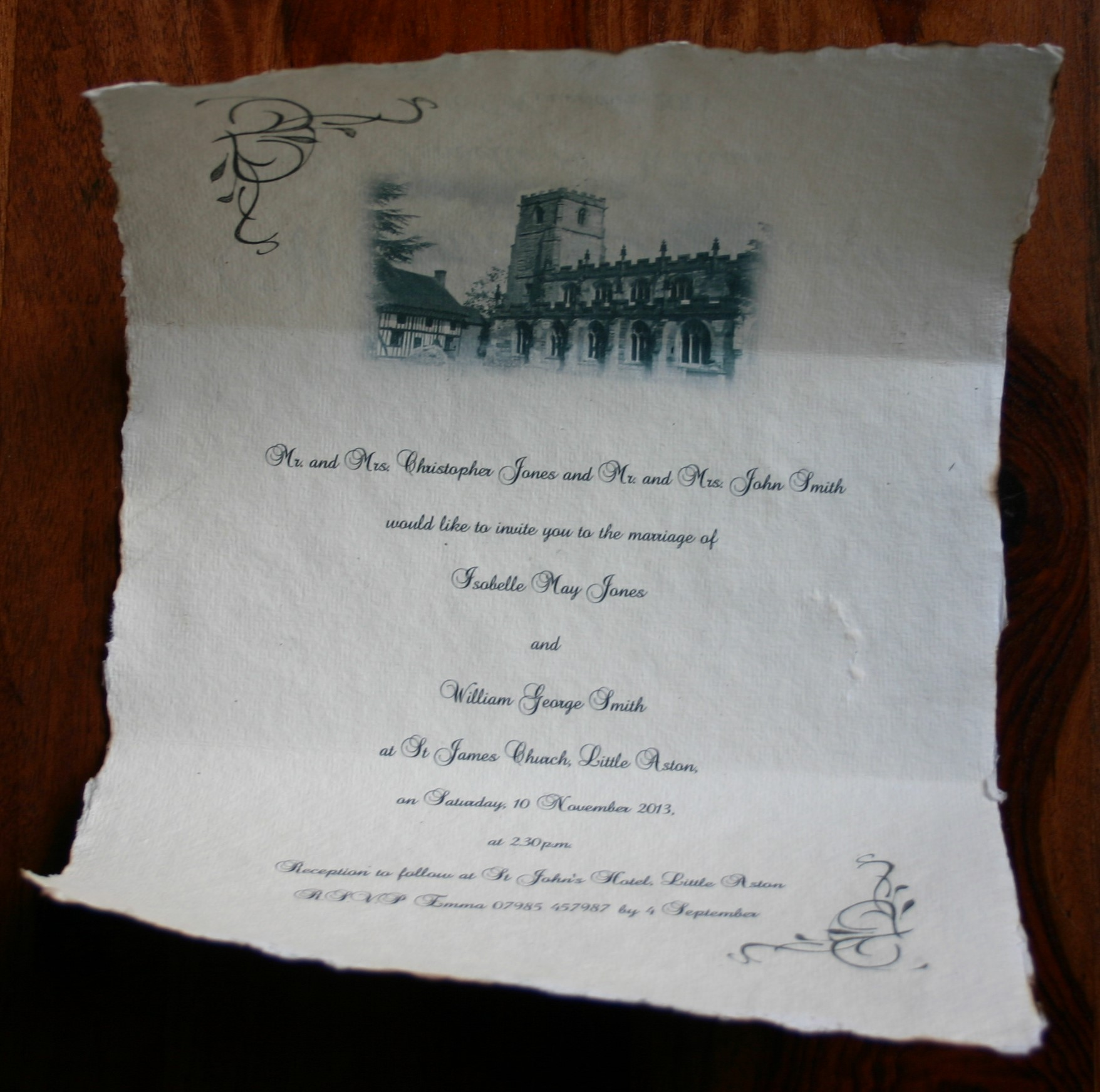 Wedding invitation scrolls for Weddings and other events
