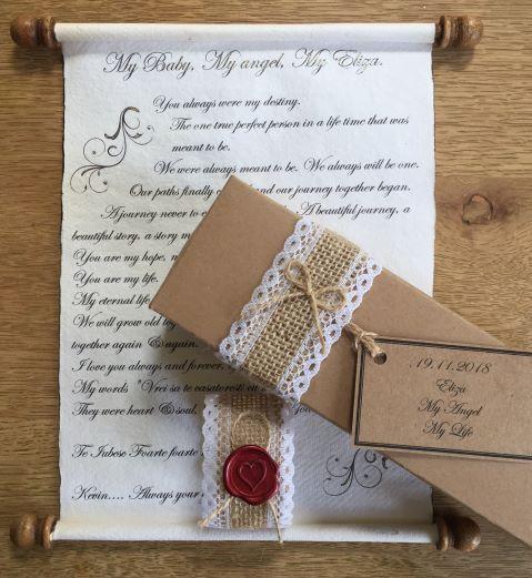 Letter scroll
