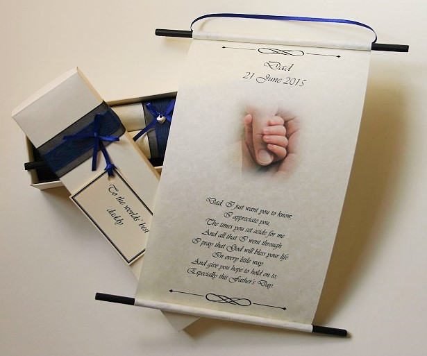 Fathers day gift scroll