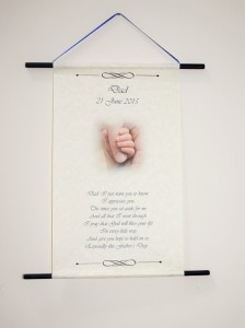 Fathers Day personalised hanging gift scroll