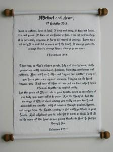 Handwritten letters and scrolls