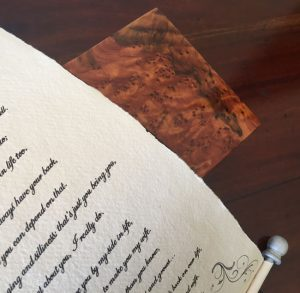 Letter or poem presented as a Gift scroll