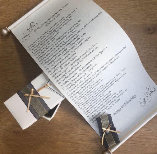 Scroll gift