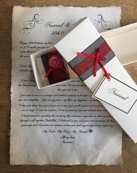 Love letter scroll
